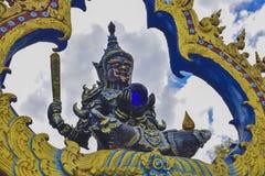 Wat荣Khun寺庙在清莱,泰国在亚洲 免版税库存照片