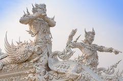 WAT荣KHUN寺庙, CHIANGRAI 图库摄影