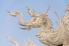 WAT荣KHUN寺庙, CHIANGRAI 免版税图库摄影