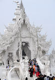 Wat荣Khun (白色寺庙) 库存照片