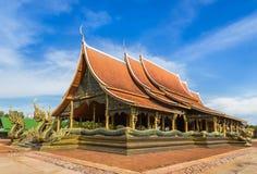 Wat诗琳通Wararam或Pupao寺庙公共场所在泰国 免版税库存照片