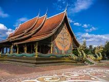 Wat诗琳通Wararam,地标在泰国 免版税库存图片