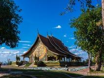 Wat诗琳通Wararam,地标在泰国 免版税图库摄影