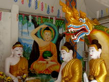 Wat στη Mae Sariang, Ταϊλάνδη Στοκ Εικόνες