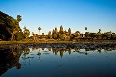 wat захода солнца Камбоджи angkor Стоковые Фото