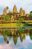 wat захода солнца Камбоджи angkor Стоковые Изображения