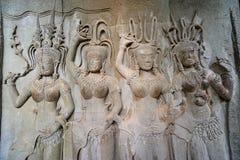 wat Камбоджи apsara angkor Стоковое Изображение
