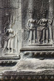 wat камня khmer carvings Камбоджи angkor Стоковые Фото