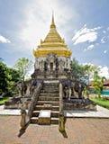 wat Таиланда виска человека mai chiang Стоковое Изображение