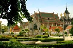 wat Таиланда ratchanatdaran bangkok Стоковая Фотография RF
