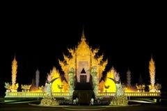 wat Таиланда rong rai khun chiang Стоковая Фотография