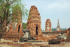 wat Таиланда sri sanphet phra ayutthaya Стоковая Фотография