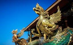 wat Таиланда виска статуи phra kaew garuda bangkok Будды изумрудное Стоковая Фотография