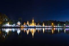 Wat崇公巴生和Wat夜丰颂的崇公西康省 图库摄影