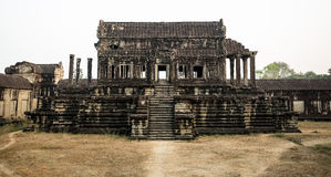 Wat in Angkor wat. Wat in the second level of Angkor Wat Royalty Free Stock Image