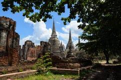 Wat antiguo en Tailandia Imagen de archivo