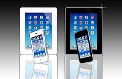 Wat is apps is vandaag op uw mobiel netwerk? Stock Afbeelding