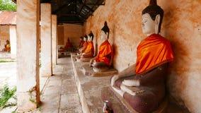 Wat Aranyikawat Ratchaburi, Thailand Arkivbild