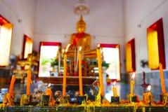 Wat Aranyikawat Ratchaburi, Thailand Royaltyfria Bilder