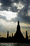 Wat aroon silhouette Stock Photos