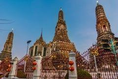 Wat Arun στη Μπανγκόκ ή το ναό του κάτω Στοκ Εικόνες
