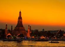 Wat Arun στο ηλιοβασίλεμα Στοκ φωτογραφία με δικαίωμα ελεύθερης χρήσης