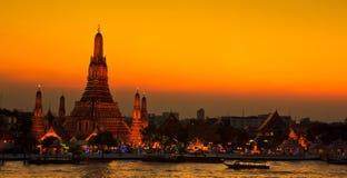 Wat Arun στο ηλιοβασίλεμα Στοκ Φωτογραφία
