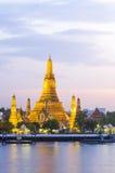 Wat Arun στο λυκόφως, Μπανγκόκ, Ταϊλάνδη Στοκ Εικόνες