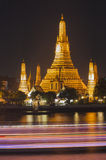 Wat Arun στο λυκόφως, Μπανγκόκ, Ταϊλάνδη Στοκ εικόνα με δικαίωμα ελεύθερης χρήσης