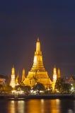 Wat Arun στο λυκόφως, Μπανγκόκ, Ταϊλάνδη Στοκ Φωτογραφίες