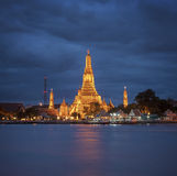 Wat Arun τη νύχτα. Στοκ φωτογραφία με δικαίωμα ελεύθερης χρήσης