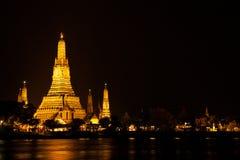 Wat Arun τη νύχτα. Στοκ φωτογραφίες με δικαίωμα ελεύθερης χρήσης