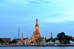Wat Arun, старый висок Бангкок Стоковая Фотография