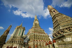 Wat Arun. Aka Temple of Dawn, is a buddhist temple in the Bangkok Yai district, on the west bank of the Chao Phraya river, Bangkok, Thailand. Built around 1809 Stock Photos