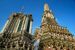 Wat Arun in Bangkok. Wat Arun, the Temple of Dawn, is one of Bangkok's best know landmark. It stands on the west bank of the Chao Phraya River in Thon Buri. Wat Stock Image