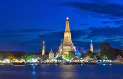 Wat Arun in Bangkok. Wat Arun or Temple of the Dawn in Bangkok on the river side Stock Photography