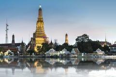 Wat Arun. Bangkok , Thailand : At twilight Royalty Free Stock Images