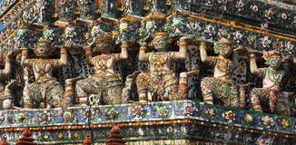 Wat Arun Bas-Relief Stock Photos