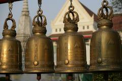 Wat Arun bells. Four golden bells in Wat Arun in Bangkok Royalty Free Stock Images