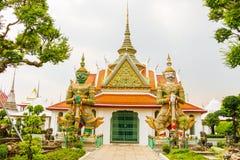 Wat arun - Bhuda图象泰国 库存照片