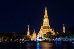 Wat Arun bij schemer stock fotografie