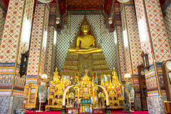 Wat Arun. Buddha in Wat Arun, Temple of Dawn the landmark of Thailand Stock Photography