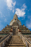 Wat Arun is a Buddhist temple. In Bangkok, Thailand 2016 Royalty Free Stock Photos