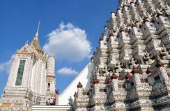 Wat Arun buddhist temple, Bangkok, Thailand royalty free stock images