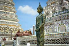 Wat Arun Buddhist Temple em Banguecoque, Tail?ndia foto de stock royalty free