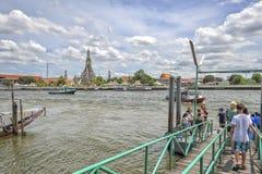 Wat Arun, Chao Phraya River, Bangkok, Thailand Stock Photography