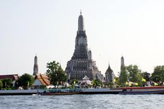 Wat Arun at The Chao Phraya river bank in Bangkok city, Thailand, Asia Stock Image