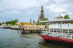 Wat arun from the Chao Praya River Bangkok Royalty Free Stock Images