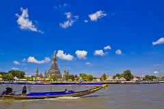 Wat Arun and cloudscape Royalty Free Stock Photos
