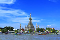 Wat Arun and cloudscape Royalty Free Stock Images